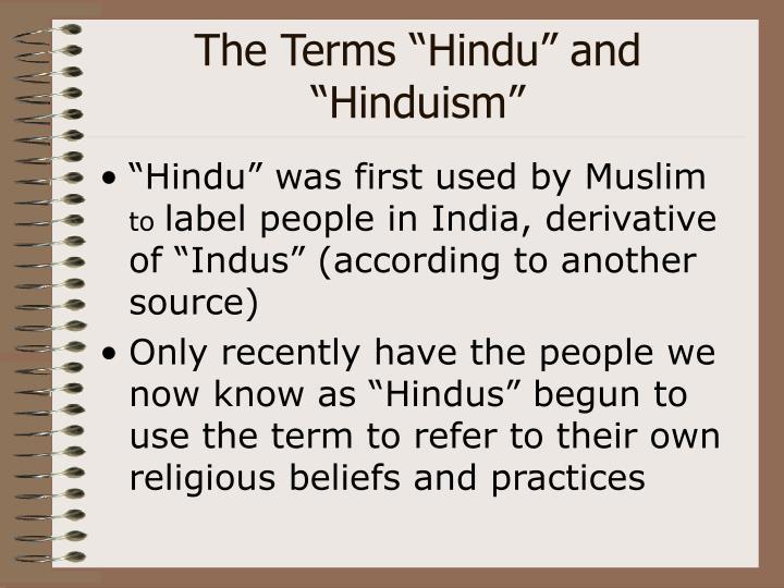 "The Terms ""Hindu"" and ""Hinduism"""