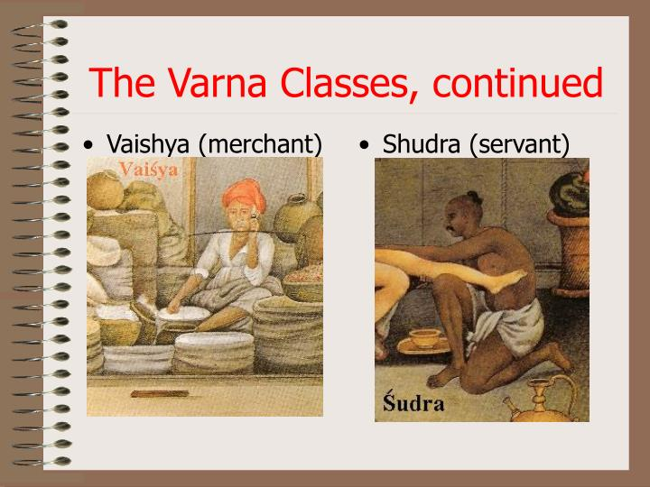 The Varna Classes, continued