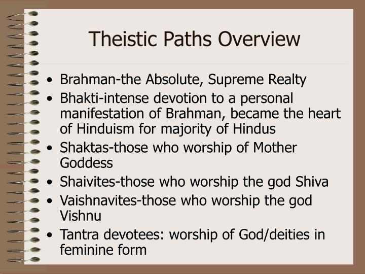 Theistic Paths Overview