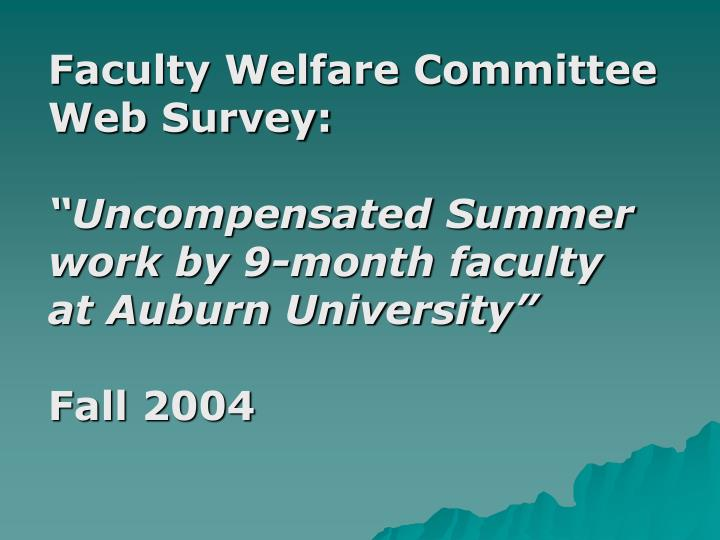 Faculty Welfare Committee