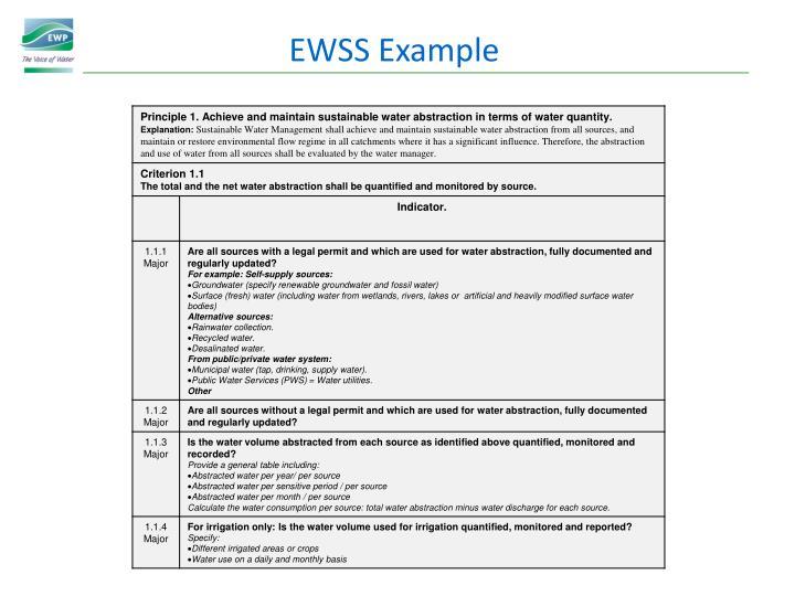 EWSS Example