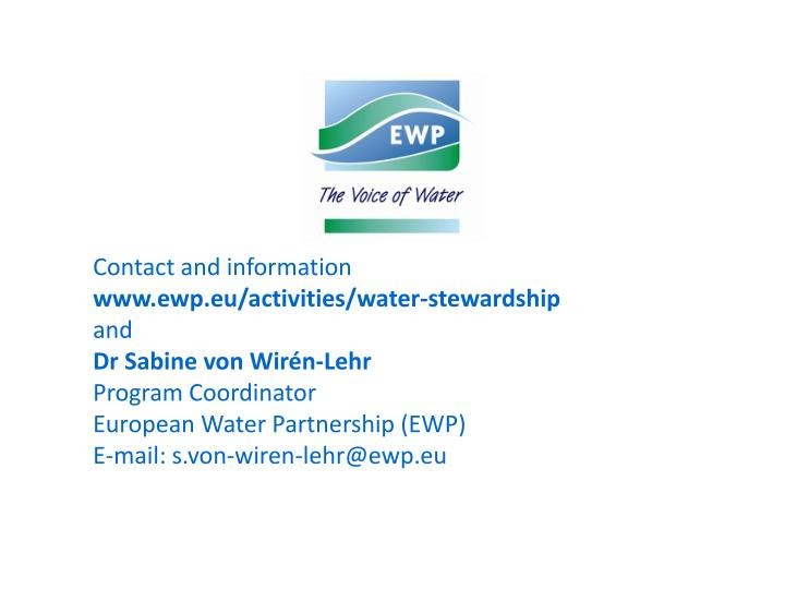 Contact and information