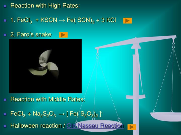 Reaction with High Rates:
