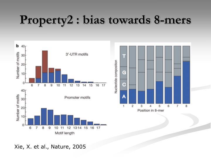 Property2 : bias towards 8-mers