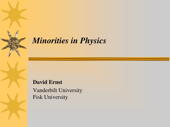 minorities in physics n.