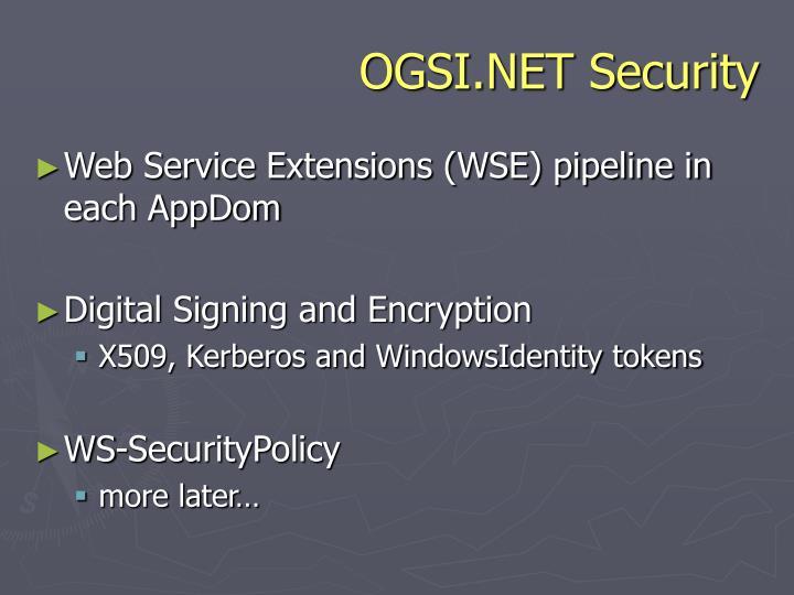 OGSI.NET Security