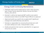 energy audits priority lists4