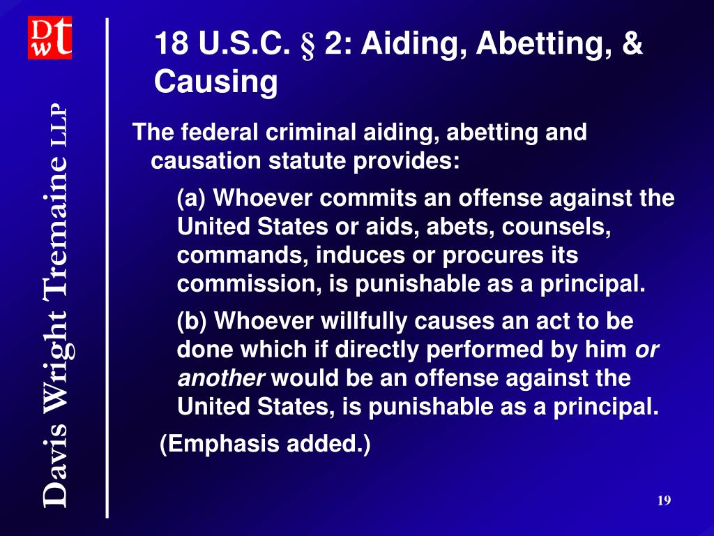 Federal charges for aiding and abetting a felon city index spread betting login
