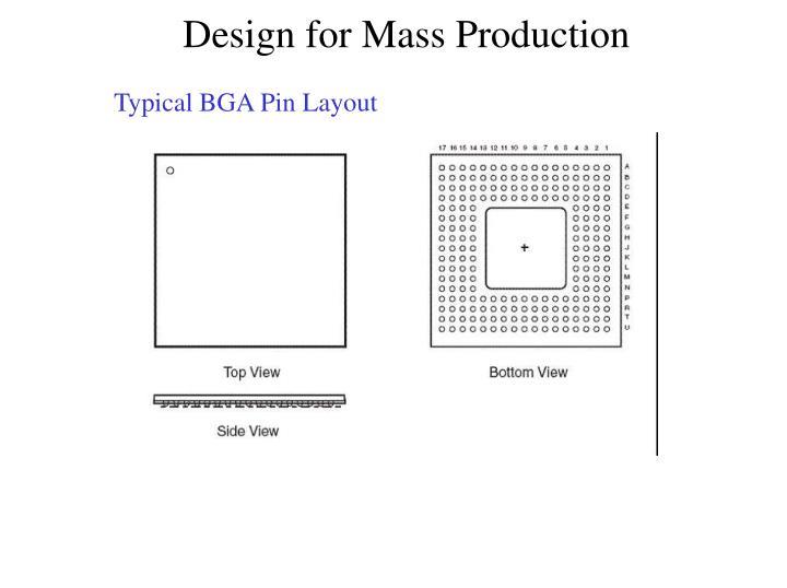 Typical BGA Pin Layout