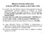 bilancio in forma abbreviata articolo 2435 bis comma 1 del codice civile