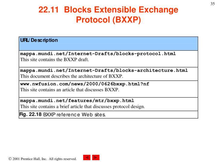 22.11  Blocks Extensible Exchange