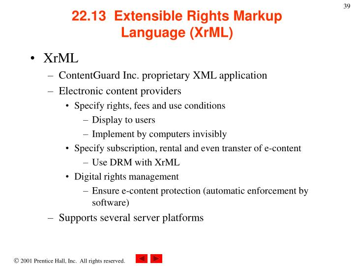 22.13  Extensible Rights Markup