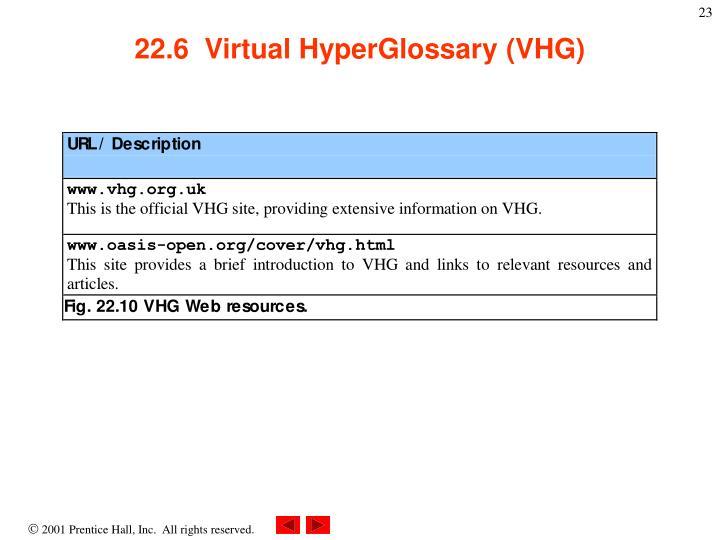 22.6  Virtual HyperGlossary (VHG)