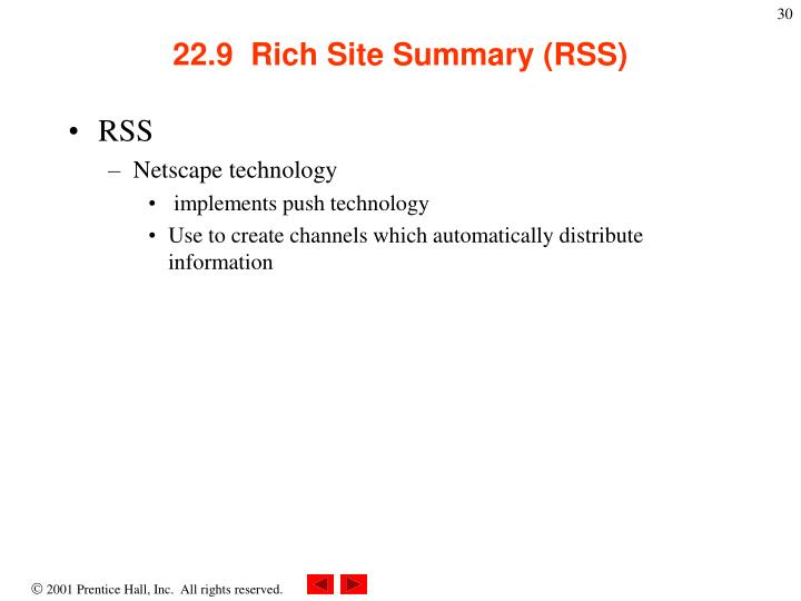 22.9  Rich Site Summary (RSS)