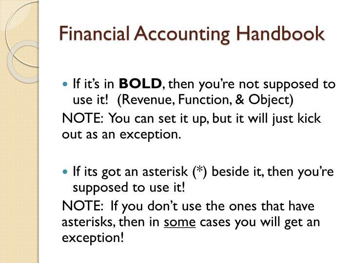 Financial Accounting Handbook