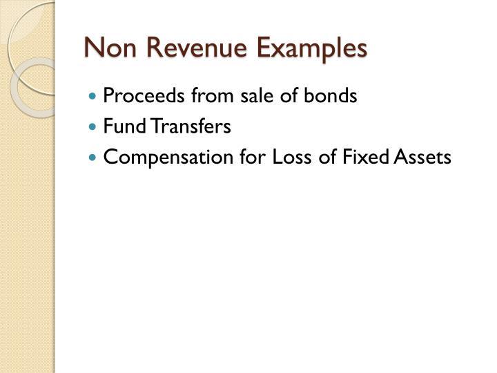 Non Revenue Examples