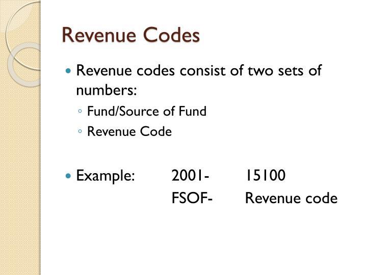 Revenue Codes
