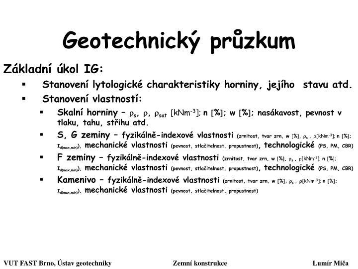 Geotechnický průzkum