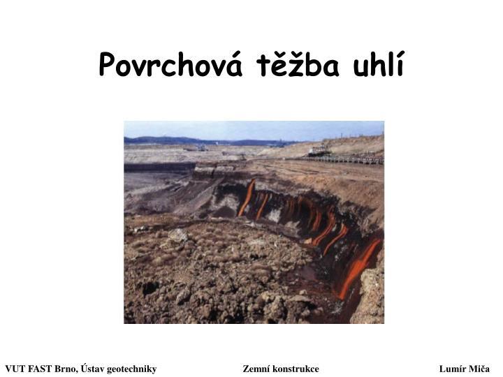 Povrchová těžba uhlí
