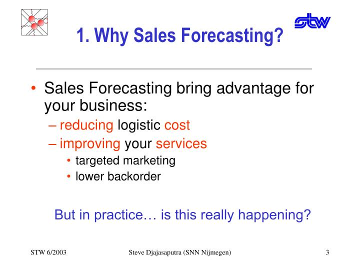 1 why sales forecasting