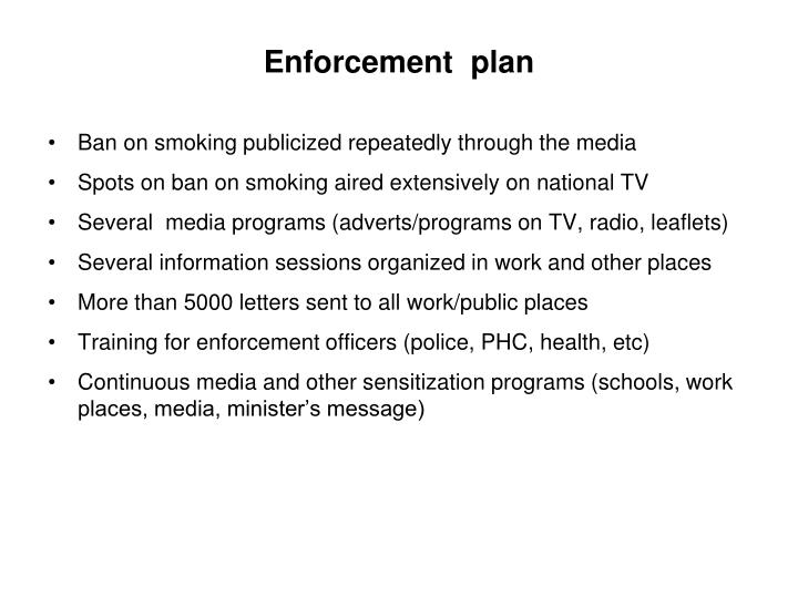 Enforcement  plan