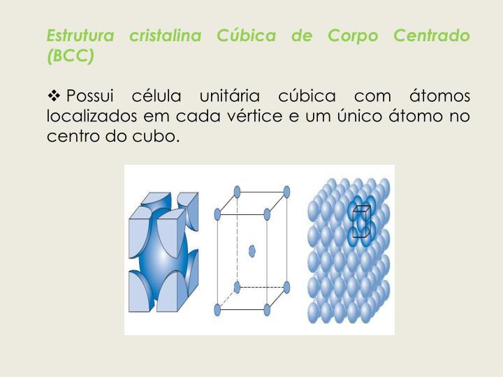 Estrutura cristalina Cúbica de Corpo Centrado (BCC)