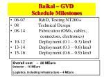 baikal gvd schedule milestones