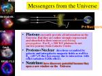 messengers from the universe