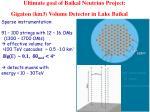 ultimate goal of baikal neutrino project gigaton km3 volume detector in lake baikal
