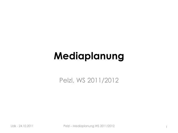 mediaplanung n.