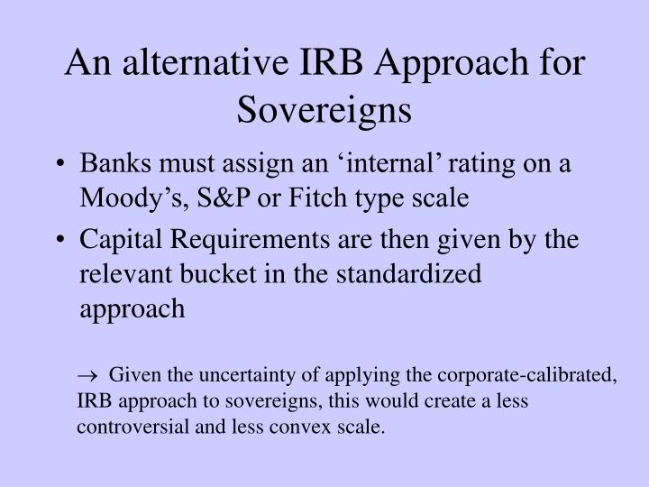 An alternative IRB Approach for Sovereigns