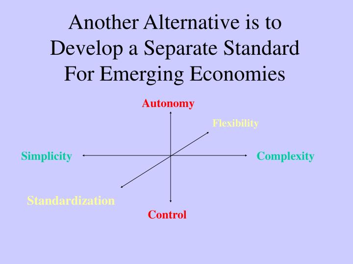 Another Alternative is to Develop a Separate Standard