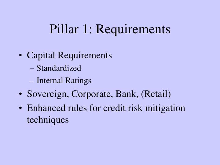 Pillar 1: Requirements