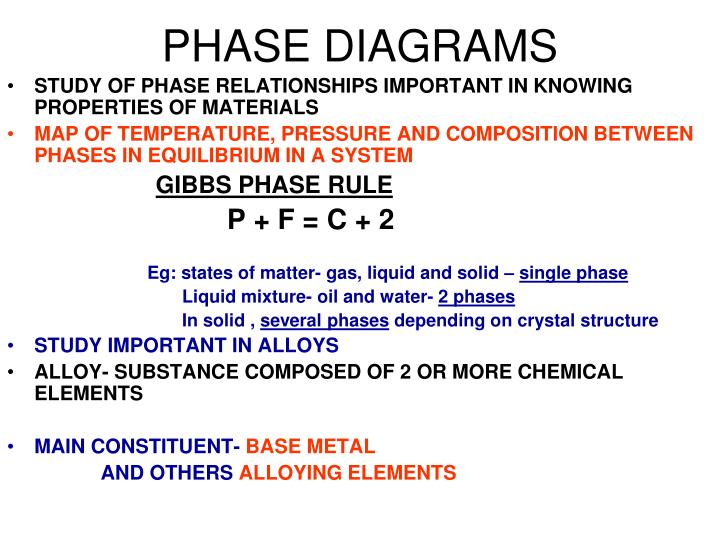 ppt phase diagrams powerpoint presentation id 3403769 Single Phase Graph phase diagrams