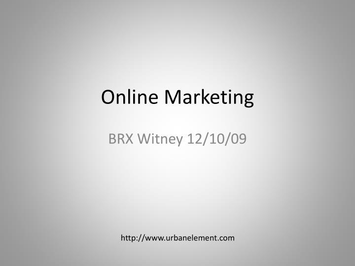 online marketing n.