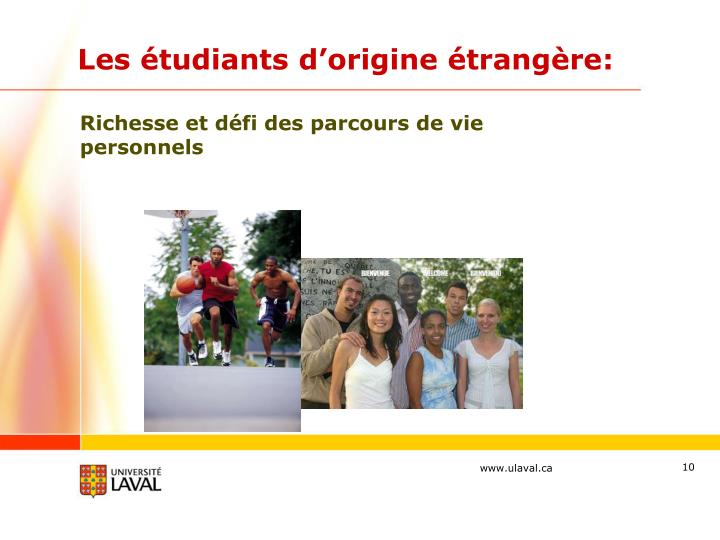 Les étudiants d'origine étrangère