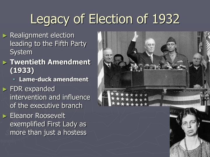 Legacy of Election of 1932