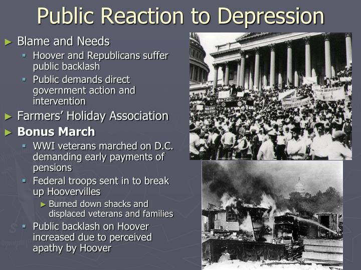 Public Reaction to Depression