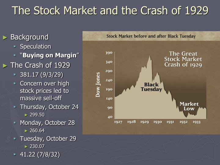 The Stock Market and the Crash of 1929