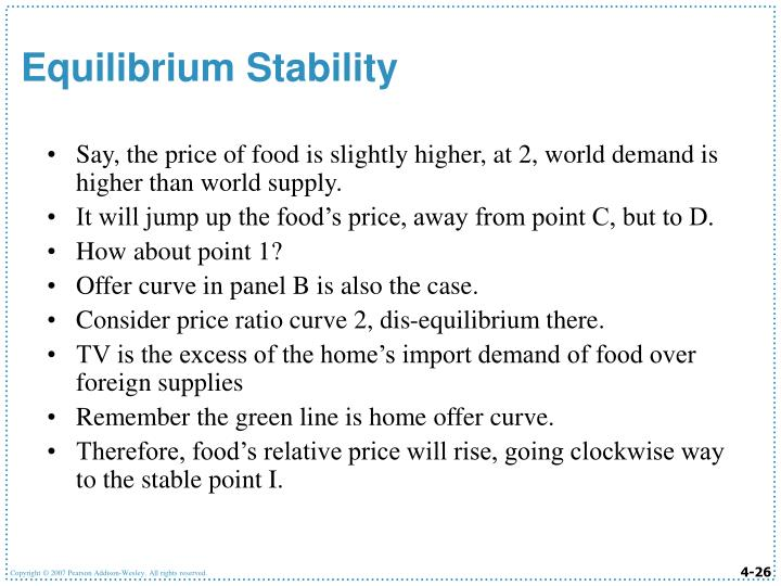 Say, the price of food is slightly higher, at 2, world demand is higher than world supply.