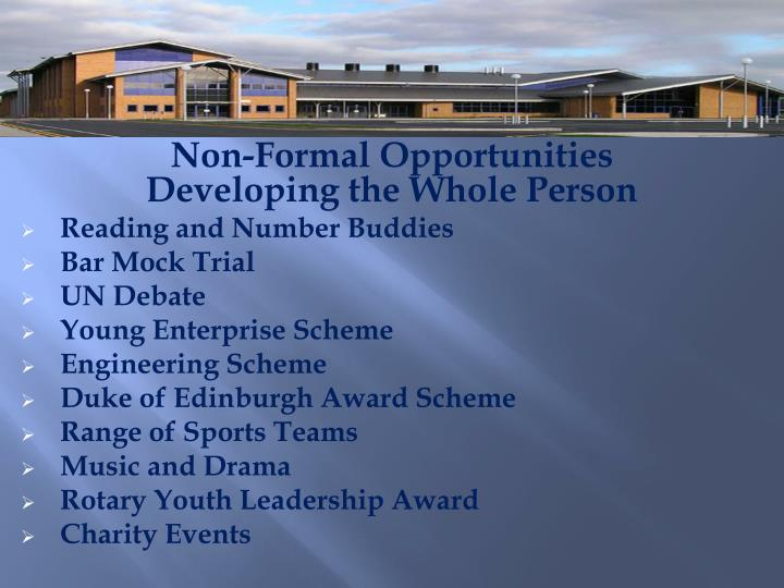 Non-Formal Opportunities