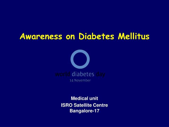 Awareness on diabetes mellitus