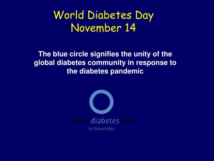 World diabetes day november 14