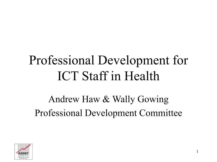 professional development for ict staff in health n.