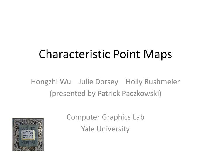 characteristic point maps n.