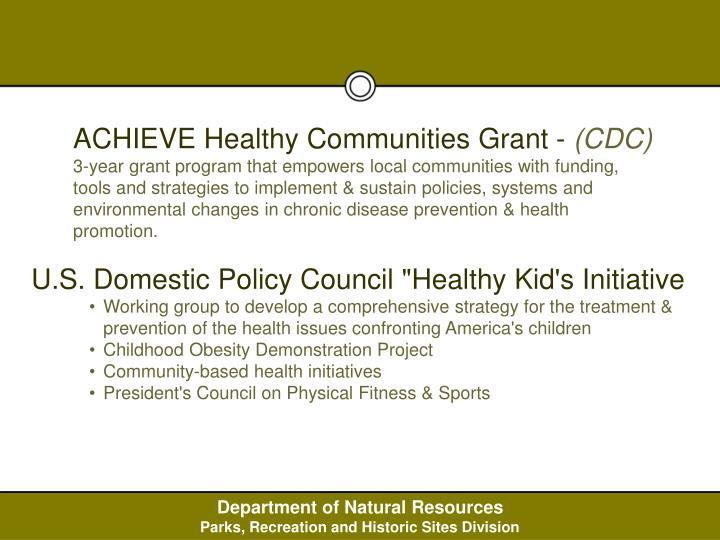 ACHIEVE Healthy Communities Grant -