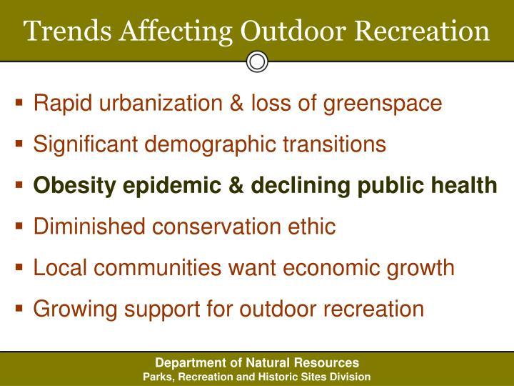 Trends Affecting Outdoor Recreation
