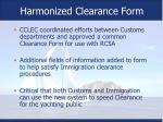 harmonized clearance form