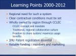 learning points 2000 2012