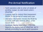 pre arrival notification